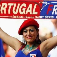 [EURO美女サポーター対決] ポルトガル×フランス