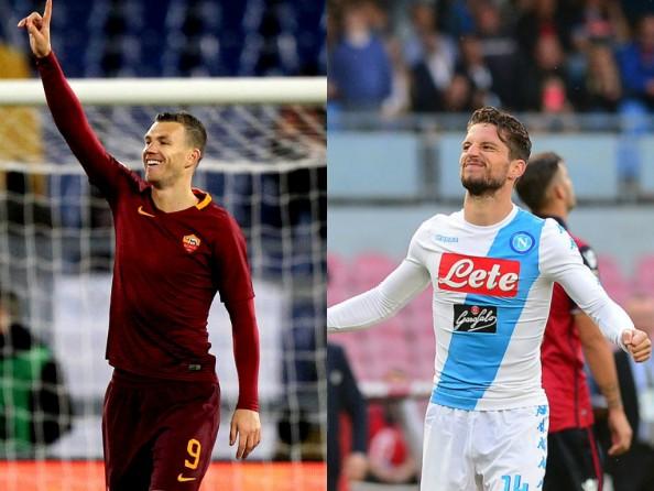 ローマとナポリ、ジェコとメルテンス