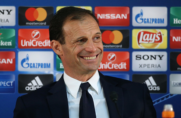 MONACO, MONACO - MAY 3: Coach of Juventus Massimiliano Allegri answers to the media during the post-match press conference following the UEFA Champions League semi final first leg match between AS Monaco and Juventus Turin at Stade Louis II on May 3, 2017 in Monaco, Monaco. (Photo by Jean Catuffe/Getty Images)
