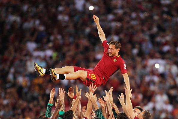 ローマのレジェンドが最後の試合終える