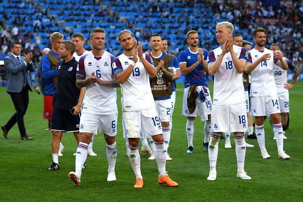 アグエロの左足シュートが炸裂も...... アイスランドがすぐさま反撃
